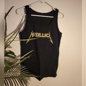 Metallica black tank top